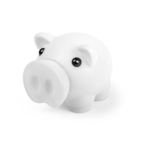 eBuyGB Novelty Piggy Pig Money Box for Coins and Cash, White from eBuyGB