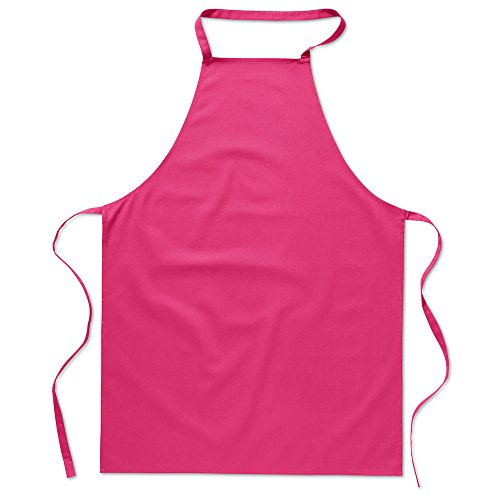eBuyGB Pack of 1 Catering Cooking Plain Chef's Unisex Kitchen Apron, Cotton, Fuchsia from eBuyGB