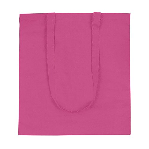 eBuyGB Pack of 10 Cotton Shopping Canvas and Beach Tote Bag 42 cm, Pink from eBuyGB