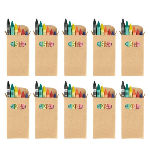 eBuyGB Sets of Colouring Wax Crayons - Kids Party Bag/Loot Toy Wedding Favour, Pack of 100 from eBuyGB