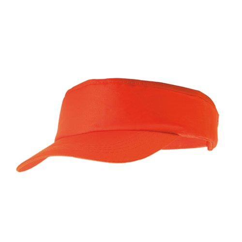 eBuyGB Adult Sun Visor - Unisex Sun Summer Sports Shade Cap Hat (Orange) from eBuyGB