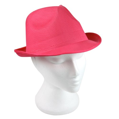 eBuyGB Unisex Fedora Summer Sun Hat Fancy Dress, One Size (Pink) from eBuyGB