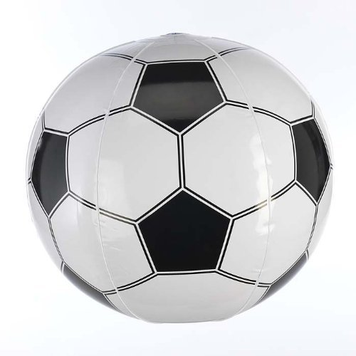 eBuyGB Inflatable Football, 40 cm, Black/White from eBuyGB