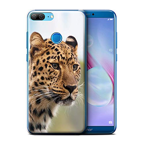 Stuff4 Phone Case for Huawei Honor 9 Lite Wild Big Cats African Leopard Design Transparent Clear Ultra Slim Thin Hard Back Cover from Stuff4