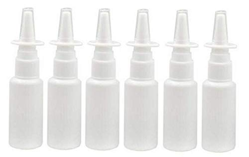 12PCS Portable Refillable Plastic Nasal Spray Bottle Makeup Water Container for Home and Travel Use White (10ML) from erioctry