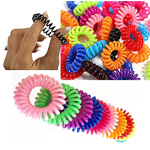 10 X Spiral Random Color Girl's Hair Bobbles Bands Mini Baby Ponytail Elastic Stretchy Hairband from fat-catz-copy-catz