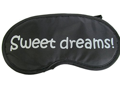 Ladies, mens novelty eye sleeping travel mask cover with slogans: sweet dreams, 10 more mins - by Fat-catz-copy-catz (sweet dreams) from fat-catz-copy-catz