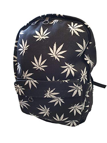 Unisex Fashion Student Medium or Mini Ganja Weed Marijuana Cannabis Drug Backpack - by Fat-Catz-copy-catz (Medium Ganja Backpack) from fat-catz-copy-catz