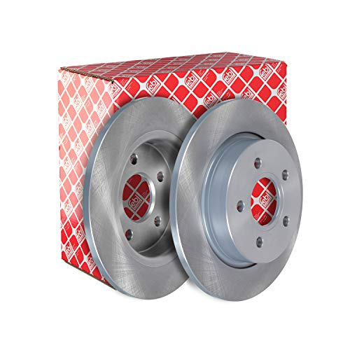 febi bilstein 39689 Brake Disc Set (2 Brake Disc) rear, full, No. of Holes 5 from febi bilstein