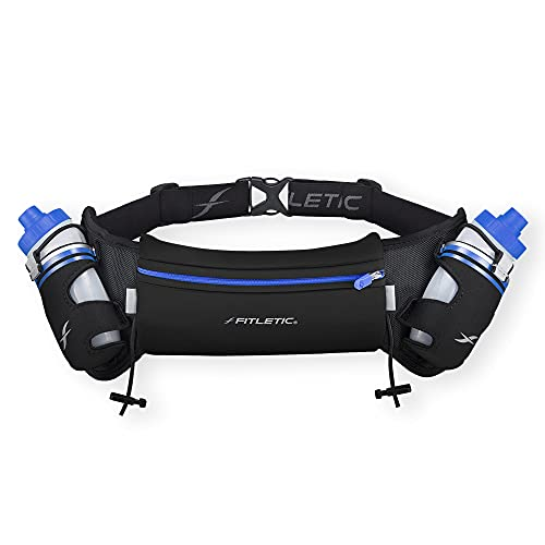 Fitletic HYDRA 16 oz Hydration Belt, Striped Blue Small from Fitletic