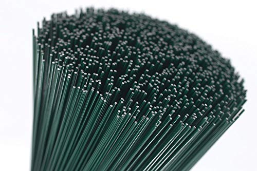 "250g green lacquered (75 Wires) 14"" Florists Thick Stub Wire 18 Gauge from Smithers Oasis"