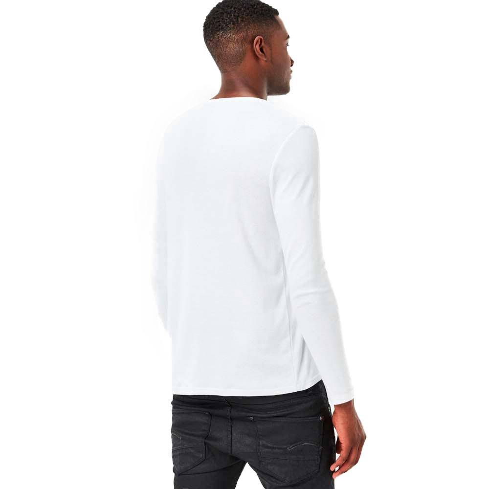 T-shirts Gstar Base Ribbed Neck Tee L/s 1-pack Premium 1 By 1 from gstar