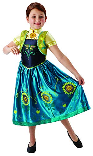 Frozen Fever Anna Girls Fancy Dress Disney Fairytale Kids Childs Costume Outfit from Disney Frozen