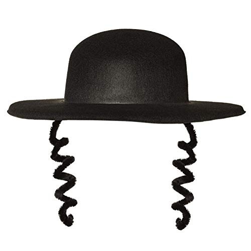 Boland 04193 - Adult Hat Rabbi Arnaud, One Size, Black from Boland