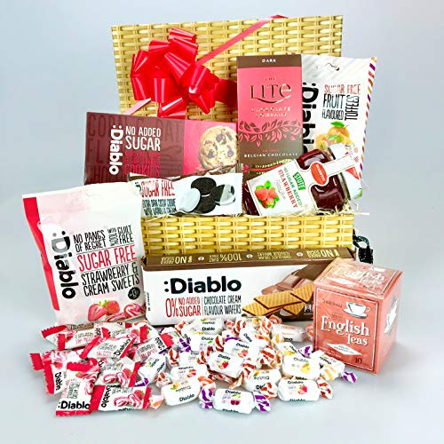 Luxury Food Hamper Gift Hamper Box Suitable for Diabetic Diets - Unique Gift - His Hers - Valentine Add Personal Message! from gifthamperz