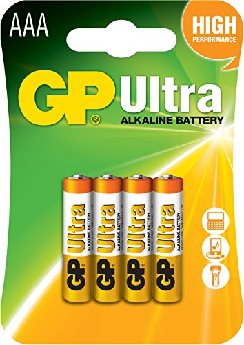 GP Ultra Alkaline AAA card of 4 from GP