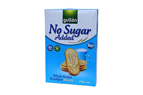 Gullon No Added Sugar Whole Grains Breakfast Biscuits 216g x 6 packs from gullon
