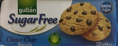 Gullon SUGAR FREE CHOCOLATE CHIP Biscuits 125g (9 pack) from gullon