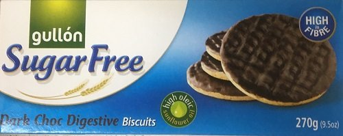 Gullon SUGAR FREE CHOCOLATE Digestive Biscuits 270g (6 pack) CHOCOLATE from gullon