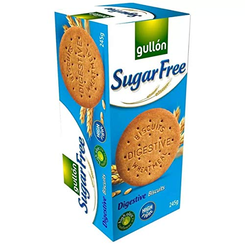 Gullon SUGAR FREE Digestive Biscuits 250g (15 pack) 250G from gullon