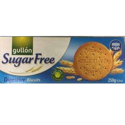 Gullon Sugar FREE Digestive Biscuits 250g (PACK OF 15) SM from gullon