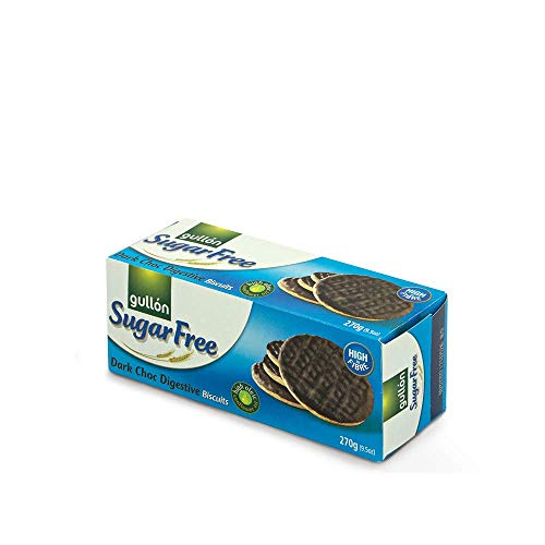 Gullon Sugar FREE Digestive Biscuits 250g (PACK OF 6) SM from gullon