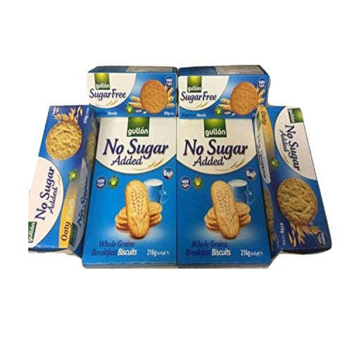 Gullon Sugar Free/No Added Sugar Biscuits Assortment.(Pack of 6) from gullon