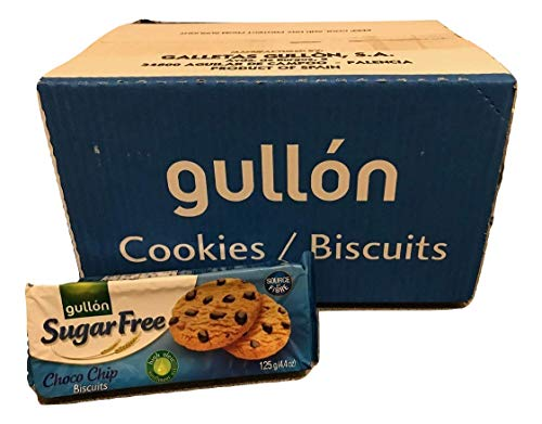 Gullon Sugar Free Choco Chip Biscuits 125g (Pack of 12) from gullon