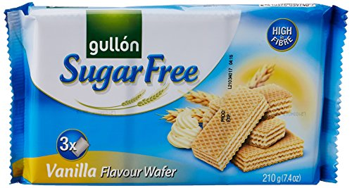 Gullon Sugar Free Vanilla Flavour Wafer Biscuits 210g Pack from gullon