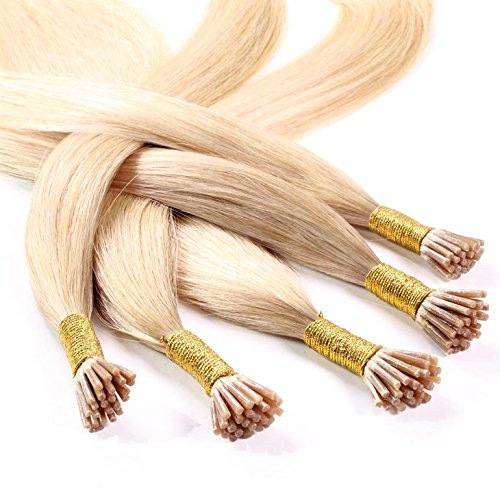 "Hair2Heart 150 x 0.5g Pre Bonded I-Tip Stick Extensions – 24"", colour #20 Natural Ash, straight from hair2heart"