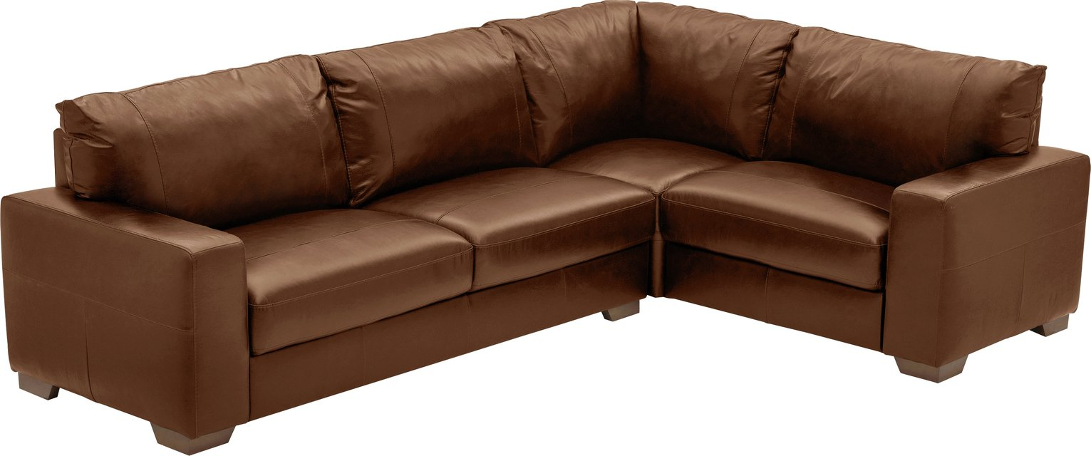 Heart of House - Eton - Leather Right Hand Corner Sofa - Tan from Heart of House