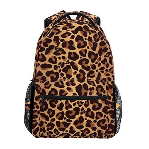 Hunihuni Animal Leopard Print Durable Backpack College School Book Shoulder Bag Daypack for Boys Girls Man Woman from hunihuni