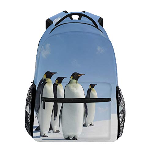 Hunihuni Animal Penguin Antarctica Durable Backpack College School Book Shoulder Bag Daypack for Boys Girls Man Woman from Hunihuni
