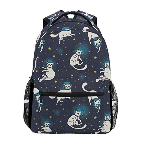 Hunihuni Astronaut Cat Durable Backpack College School Book Shoulder Bag Daypack for Boys Girls Man Woman from Hunihuni