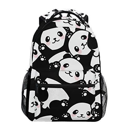 Hunihuni Cute Chinese Panda Durable Backpack College School Book Shoulder Bag Daypack for Boys Girls Man Woman from Hunihuni
