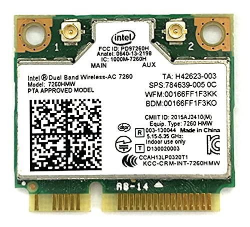 i10Gb Intel Dual Band Wireless-AC 7260 2x2 AC + Bluetooth 4.0 p/n 7260-HMW from i10Gb