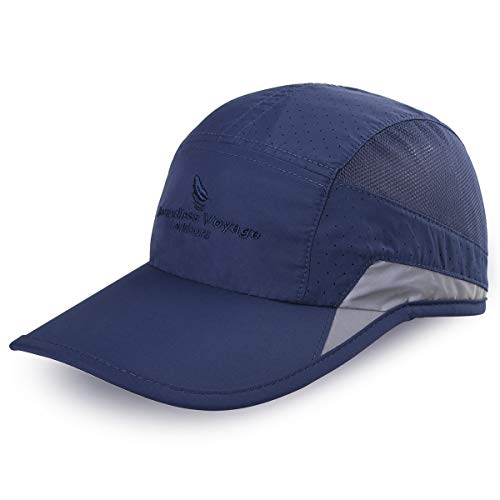 iBasingo Soft Brim Lightweight Waterproof Breathable Sport Running Baseball Cap Men and Woman Quick-Dry UV-protection Sun Hats Outdoor Activities (Royalblue) from iBasingo