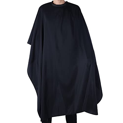 Black Salon Hair Cutting Gown Barber Cape Cloth from Mayitr