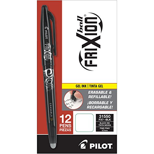 Pilot Frixion Erasable Gel Pen Black from Pilot