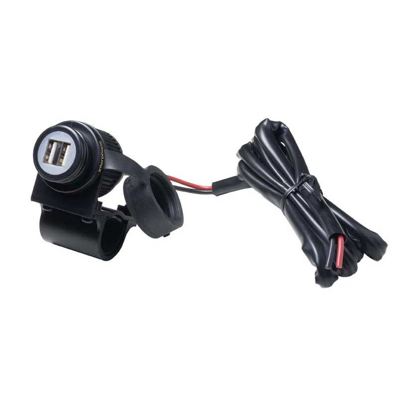 Batteries and Chargers Dual Usb Port For Handlebar from Interphone Cellularline