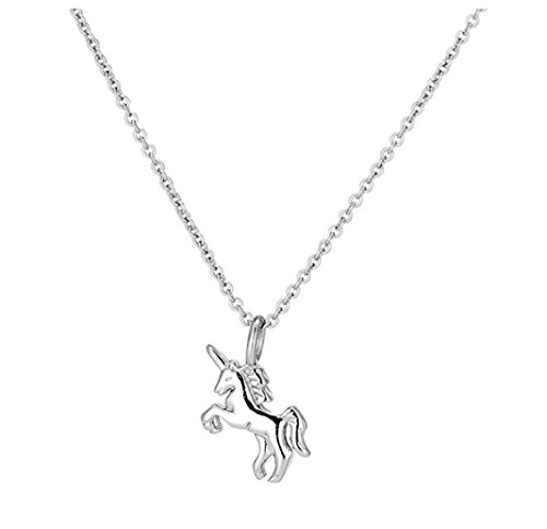 iszie jewellery 925 sterling silver little princess unicorn pendent girl ladies fashion necklace from iszie
