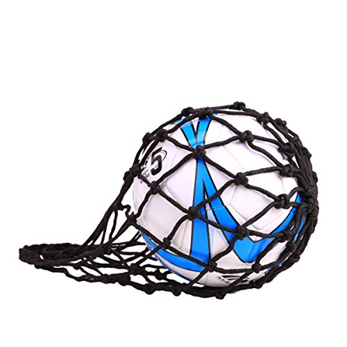 jiele Nylon Mesh Ball Bag Carry Net Bag for Football Basketball Volleyball Rugby Ball (Black) from jiele