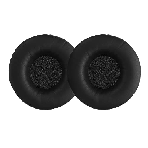 kwmobile 2x Earpads for Sennheiser HD25 /HD 25-1 II /PC150 /PC151 /PC155 - PU Leather Replacement Ear Pads for Over-Ear Headphones - Black from kwmobile
