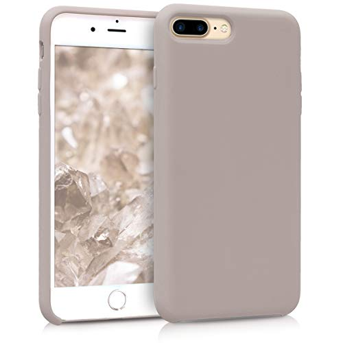 kwmobile TPU Silicone Case for Apple iPhone 7 Plus / 8 Plus - Soft Flexible Rubber Protective Cover - Light Taupe from kwmobile