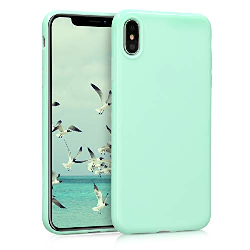 kwmobile TPU Silicone Case for Apple iPhone XS Max - Soft Flexible Shock Absorbent Protective Phone Cover - Mint Matte from kwmobile