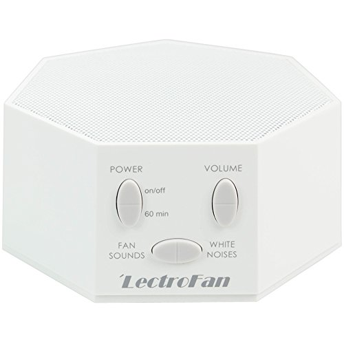 LectroFan ASM1007-G White Noise Machine and Non-Looping Fan Sounds with Sleep Timer - White from lectrofan