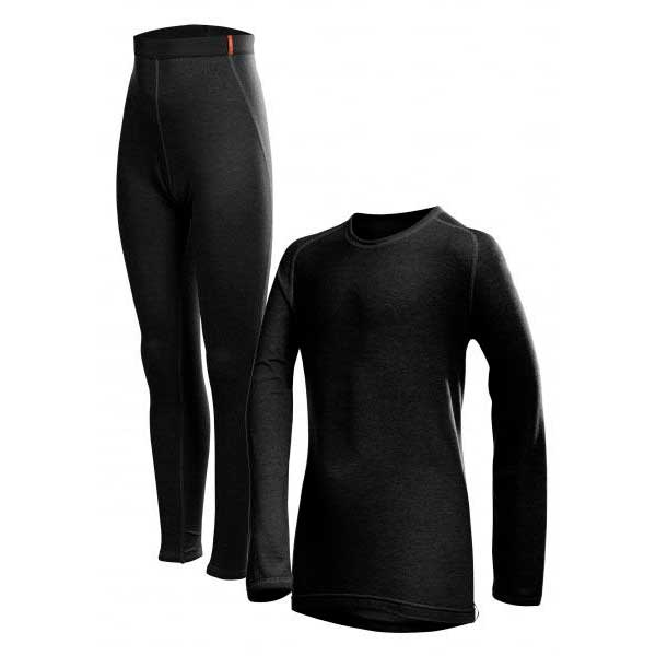 Base layers Set Transtex-warm Long Black Kids from Loeffler
