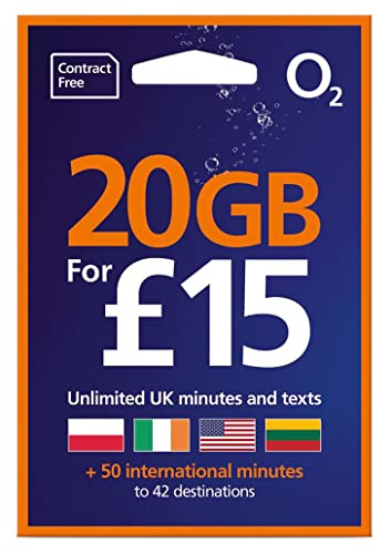 O2 (2G/3G/4G) UK Trio SIM PAYG £20 (convert to Bundle -8GB Data, 2000 mins + 5000 Texts) + International Calling Card - (Love2surf RETAIL PACK) from love 2 surf