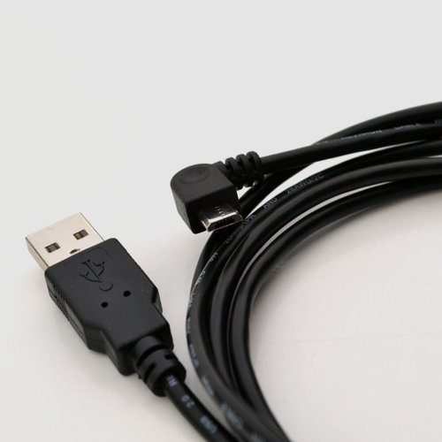 RIGHT ANGLE 2 METER LONG MICRO USB POWER CHARGING CABLE LEAD FOR TOMTOM START Start 20 , Start 25, Start 60 UK from m-one