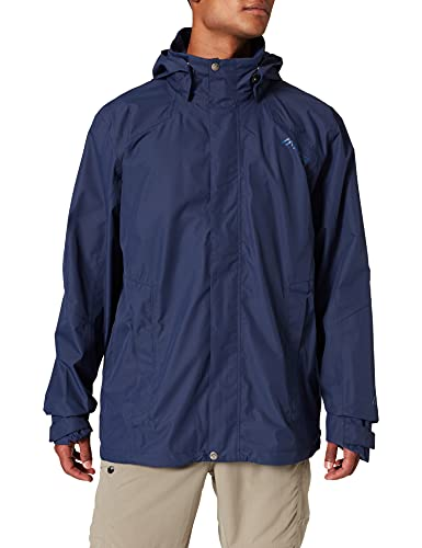 maier sports Meteor M functional jacket, made of 100% polyester, outdoor coat, waterproof and breathable, packaway jacket, Men, 120021, aviator, 98 (EU) from maier sports